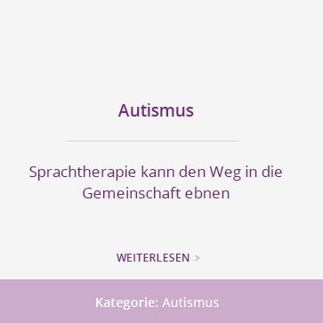 Autismus:  Sprachtherapie kann den Weg in die Gemeinschaft ebnen