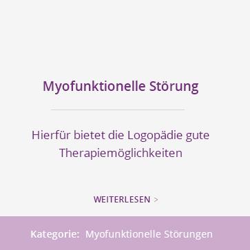 Myofunktionelle Störung: Hierfür bietet die Logopädie gute Therapiemöglichkeiten