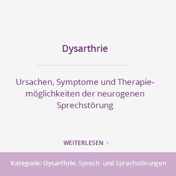 DYSARTHRIE – GEZIELTE SPRACHTHERAPIE IN EINER PRAXIS FÜR LOGOPÄDIE
